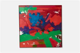 Erle Loran, 'Red and Green Blast' Large Abstract