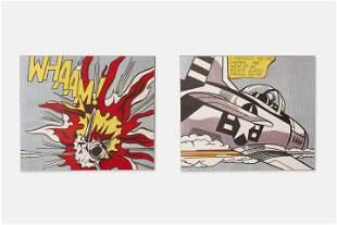 After Roy Lichtenstein, 'Whaam' Diptych (2)