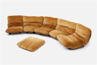 Michel Ducaroy, 'Marsala' Sectional Sofa (5)