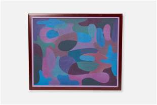 Stanley Donald Tschopp, Untitled Abstract Oil Painting