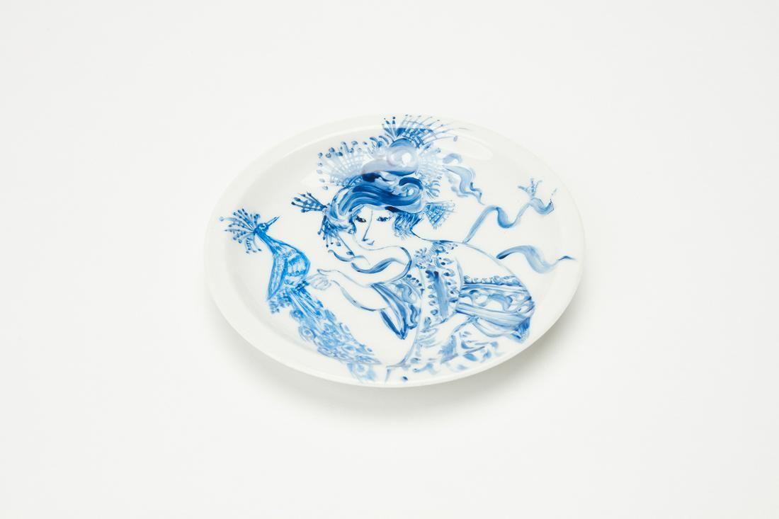 Bjorn Wiinblad, Unique Hand-Painted Plate