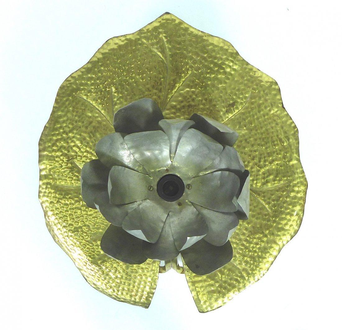 Tommaso Barbi brass lily pad sconce