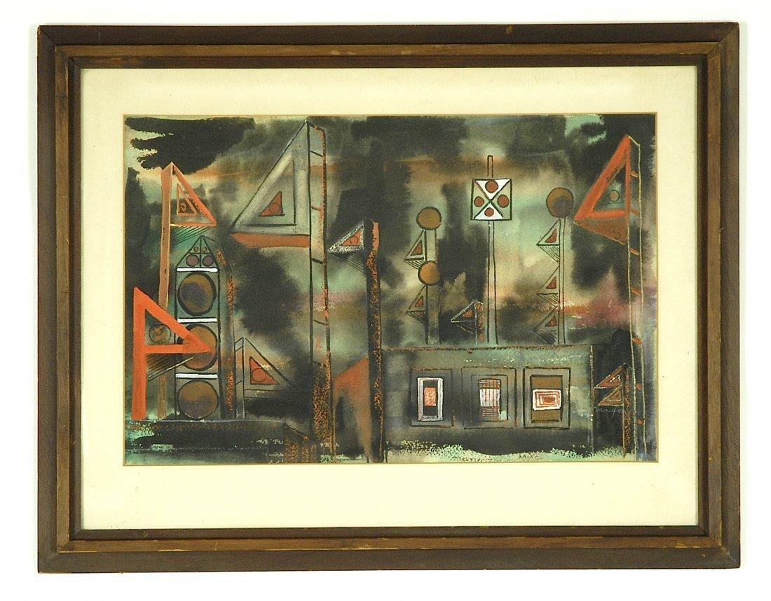 Jim Nixon abstract street scene