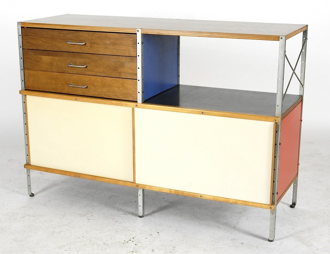 Charles and Ray Eames ESU 200 storage cabinet