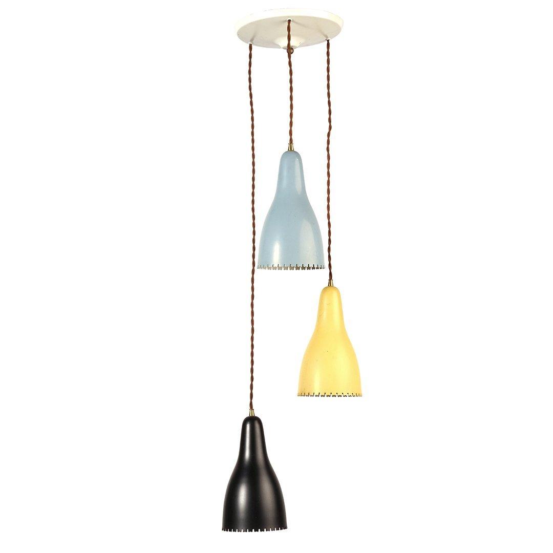 Danish triple pendant lamp
