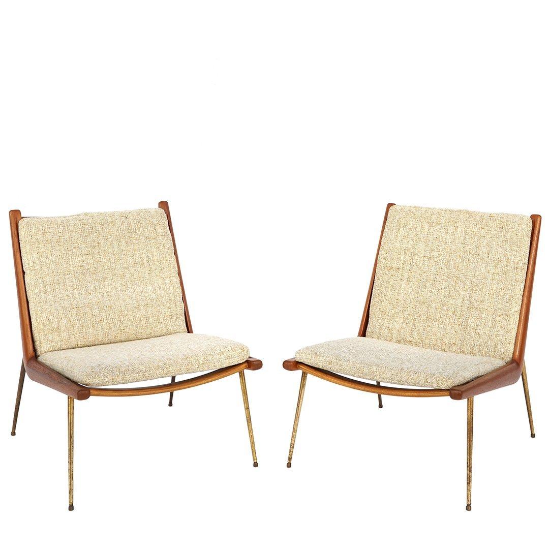 Peter Hvidt and Orla Moelgaard Boomerang chairs (2)