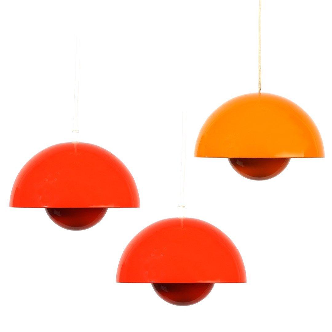 Verner Panton Flower Pot lamps (3)