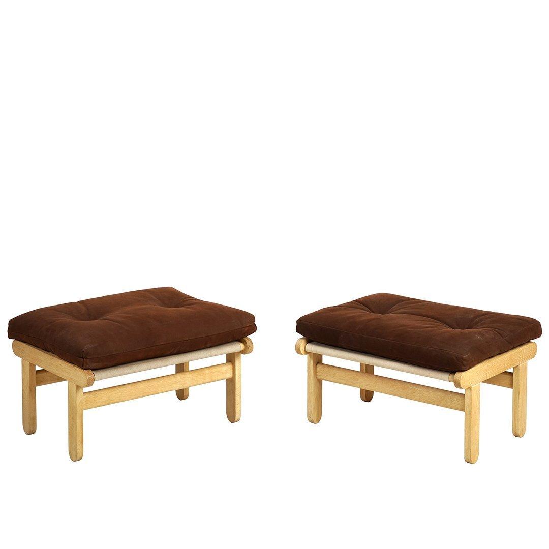 Bernt Petersen leather ottomans