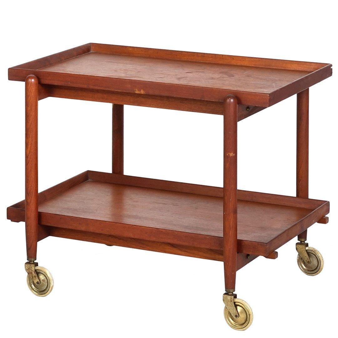 Danish teak serving cart