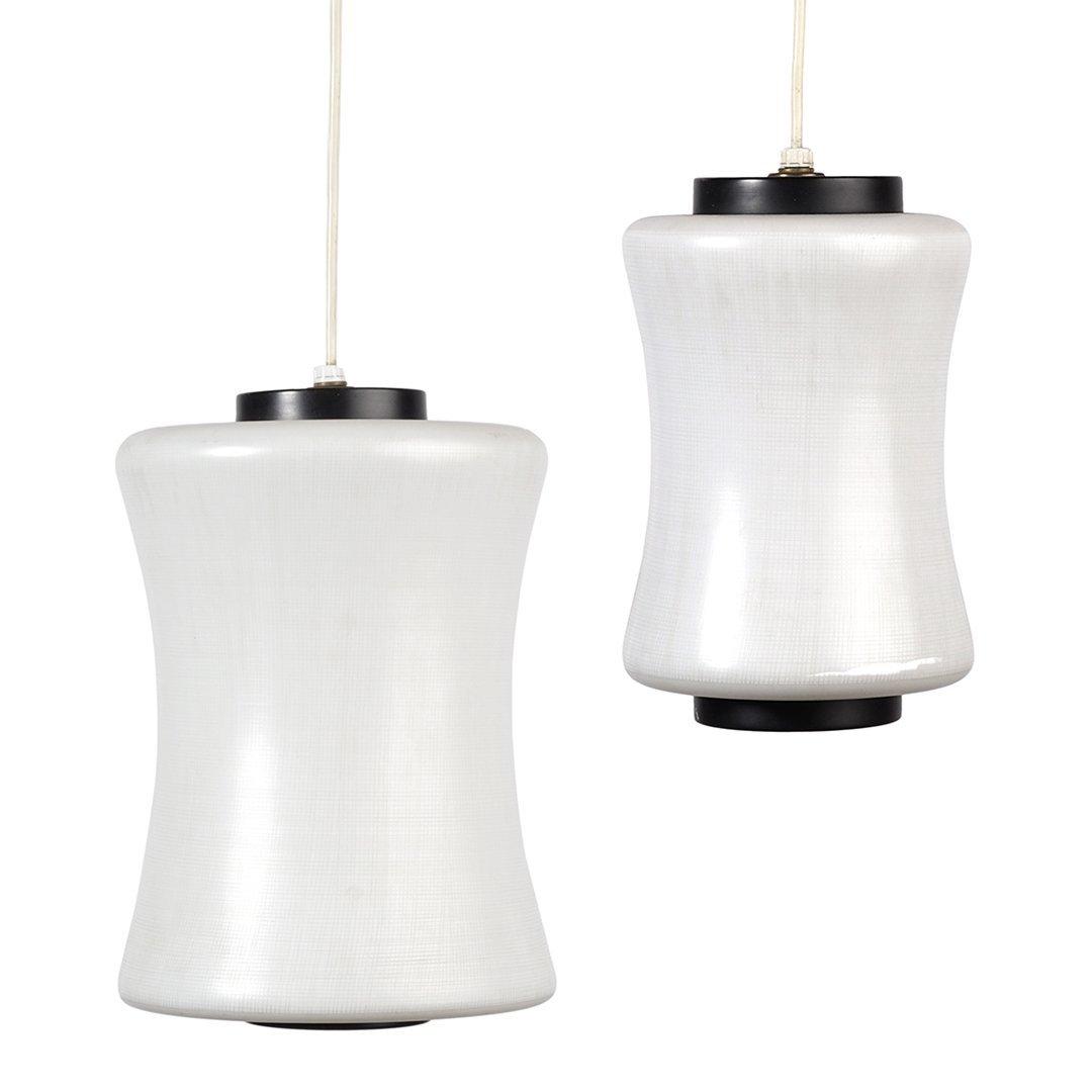 Lightolier glass pendant lamps (2)