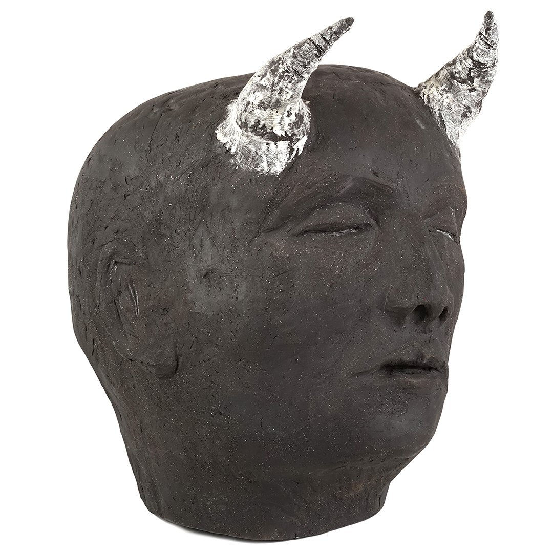 Wilma Cruise stoneware Diablo sculpture