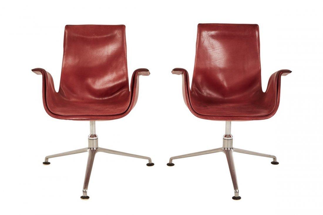 Preben Fabricius and Jørgen Kastholm tulip chairs (2)