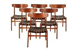 Hans Wegner model CH30 dining chairs (6)