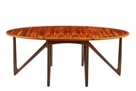 Kurt Ostervig Rosewood Drop Leaf Dining Table