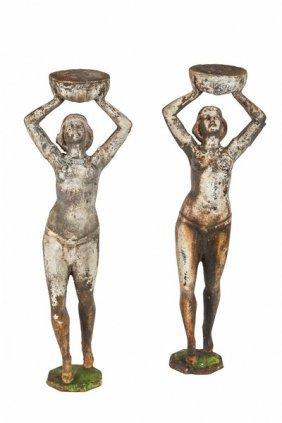 Art Deco Nude Iron Sculptures (2)