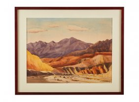 Clarence Nelson Aldrich Mountain Watercolor