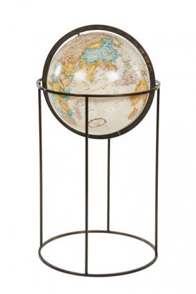 Paul Mccobb Attributed Globe On Stand