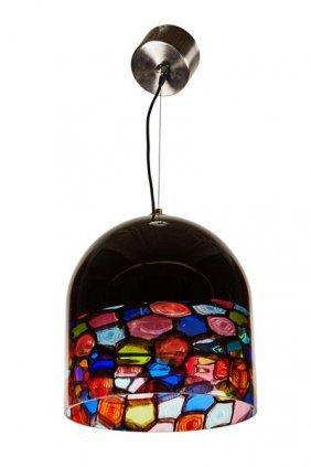 Vetreria Fratelli Toso Glass Dome Lamp