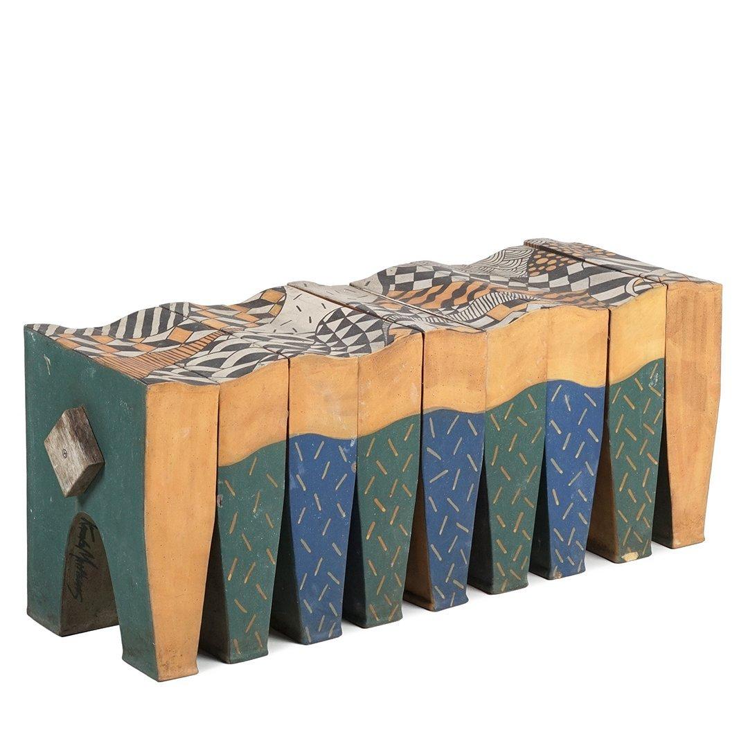 Kazuko Matthews stoneware bench - 2