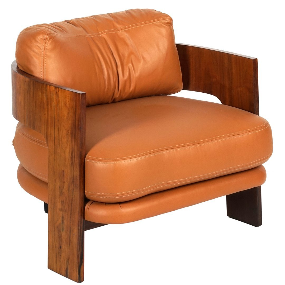 Milo Baughman bentwood and leather chair