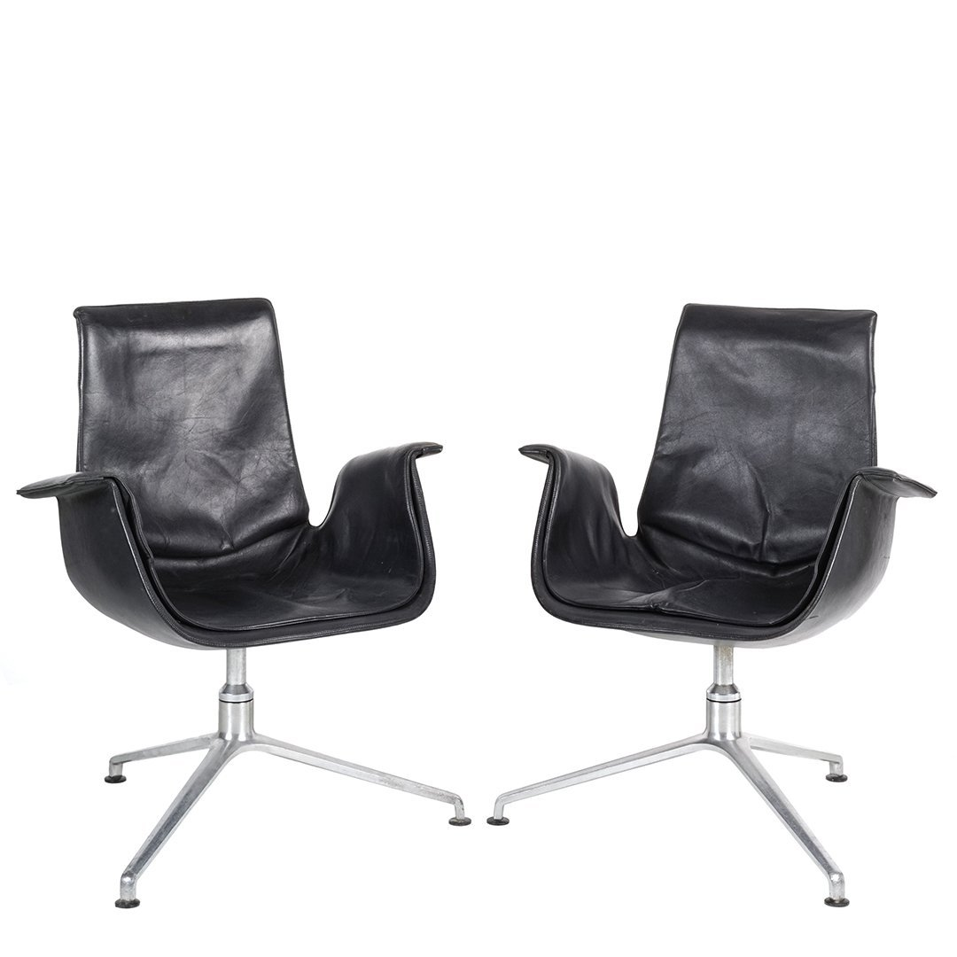 Preben Fabricius and Jorgen Kastholm tulip chairs (2)