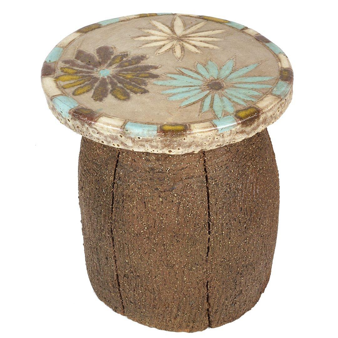Stan Bitters stoneware garden stool