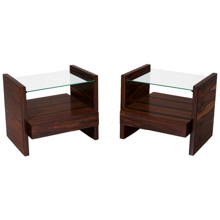 Celina Moveis rosewood side tables (2)