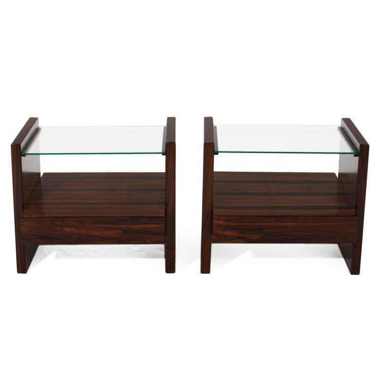 Celina Moveis rosewood side tables (2) - 2