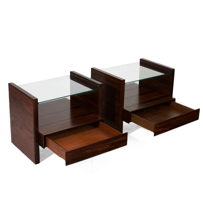 Celina Moveis rosewood side tables (2) - 5