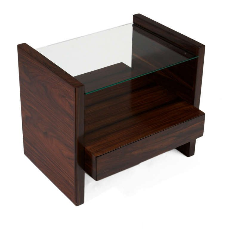 Celina Moveis rosewood side tables (2) - 6
