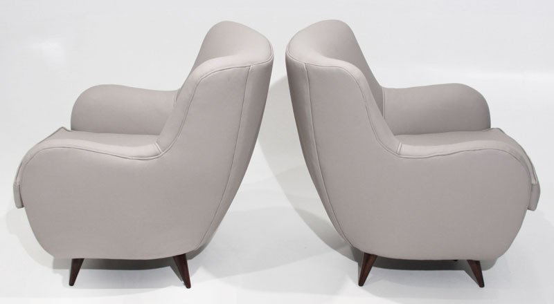 Sculptural leather armchairs (2) - 6