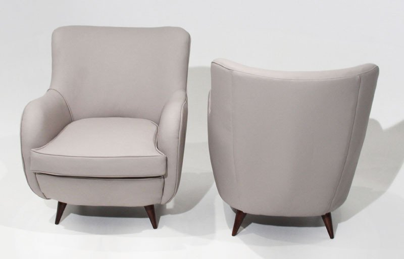 Sculptural leather armchairs (2) - 7