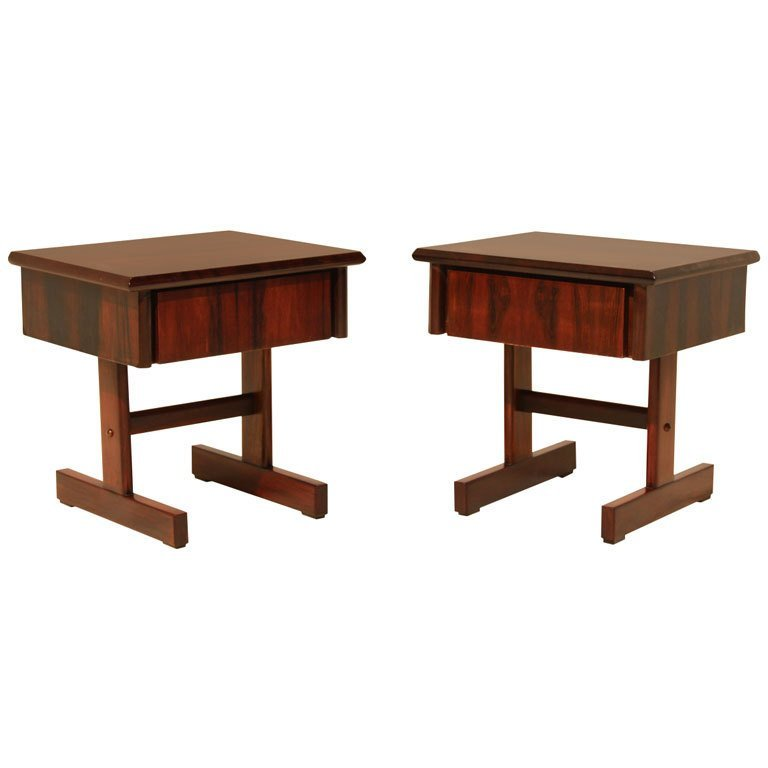 Petite rosewood side tables (2)