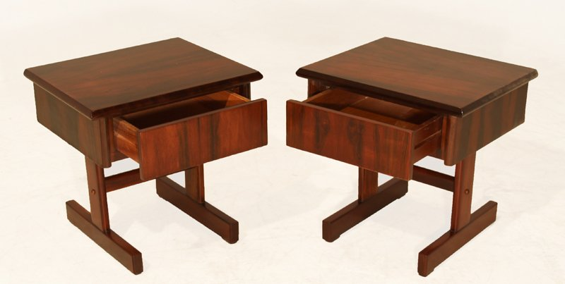 Petite rosewood side tables (2) - 2