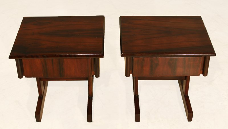 Petite rosewood side tables (2) - 3