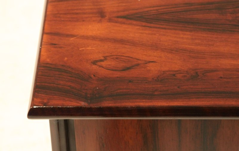 Petite rosewood side tables (2) - 5