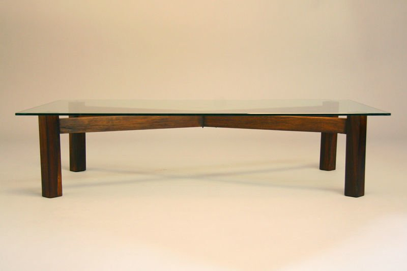 Brazilian rosewood x-base coffee table - 3