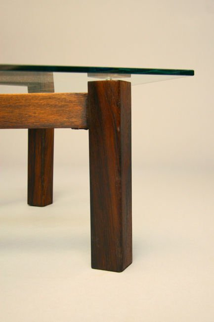 Brazilian rosewood x-base coffee table - 5