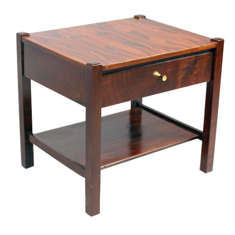 Brazilian rosewood side table