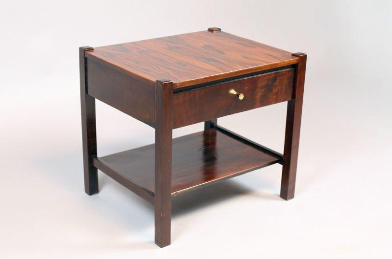 Brazilian rosewood side table - 2