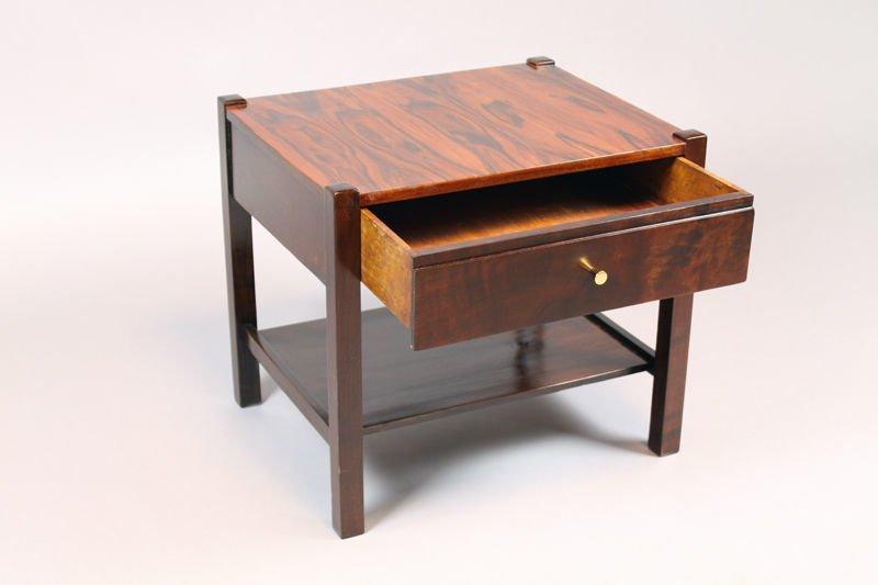 Brazilian rosewood side table - 4