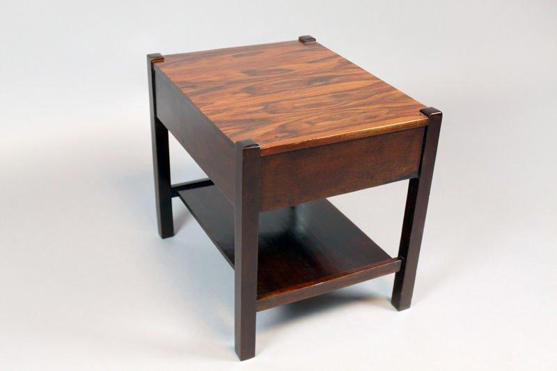 Brazilian rosewood side table - 5