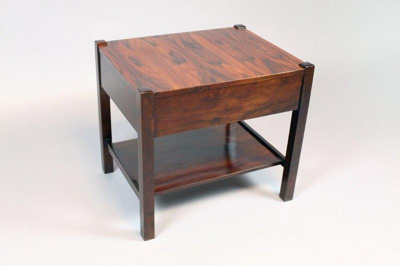 Brazilian rosewood side table - 6