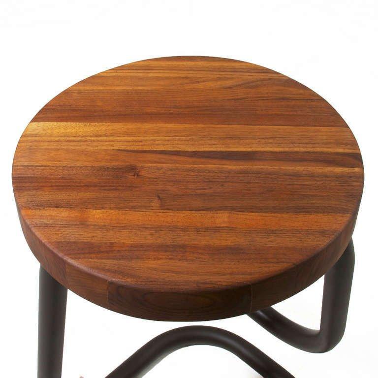 Brazilian walnut bar stools (4) - 6