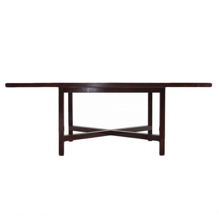 Rosewood dining table - 3