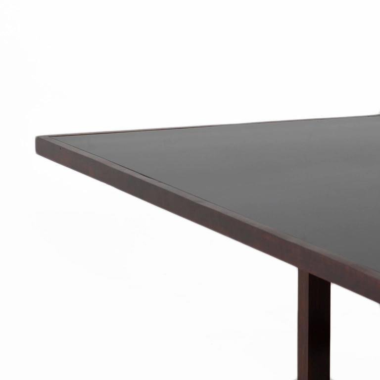 Rosewood dining table - 4