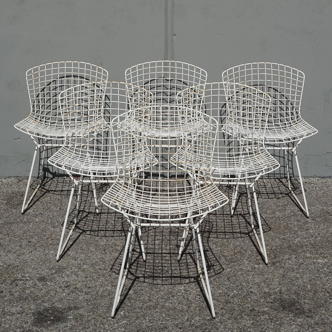 Harry Bertoia side chairs (6)
