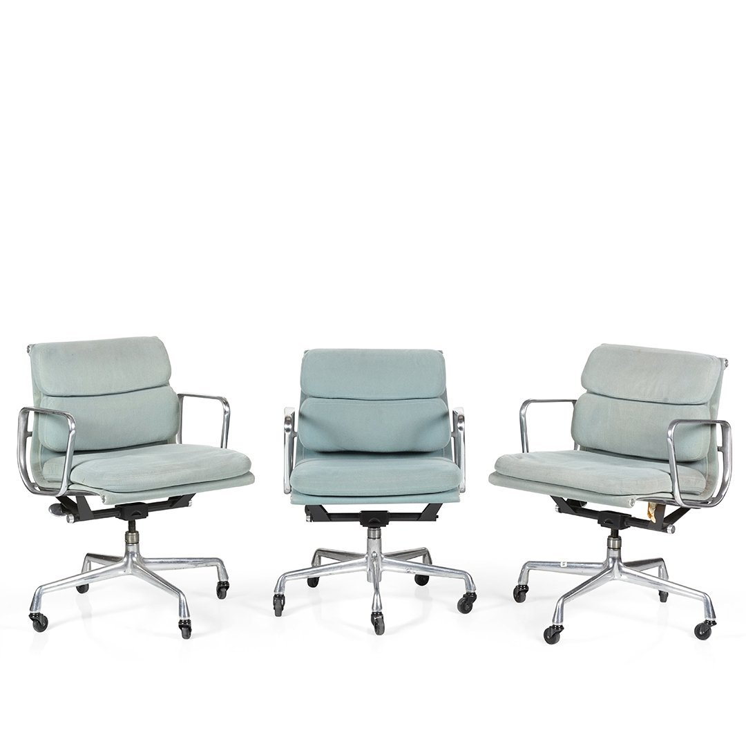 Charles Eames Aluminum Group desk chairs (3)