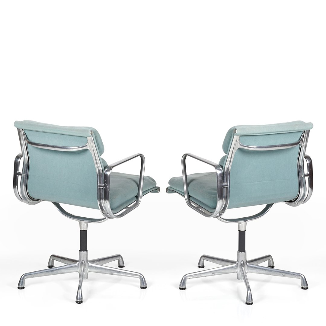 Charles Eames Aluminum Group desk chairs (2) - 2