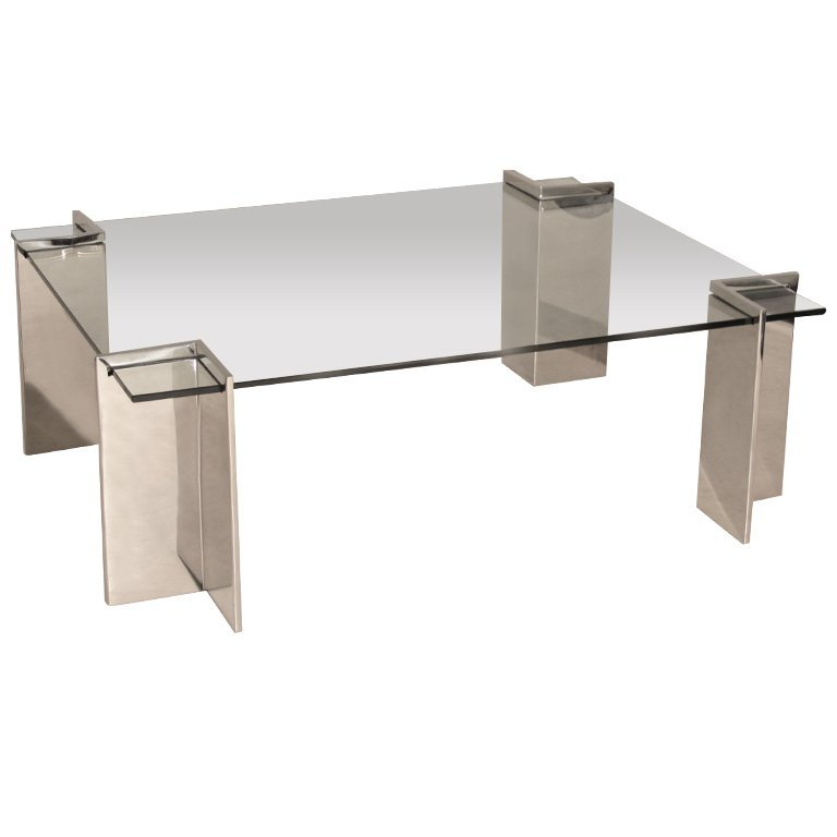 Pace stainless steel coffee table